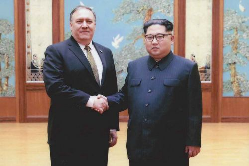 Photos show 'secret' Pompeo meeting with Kim Jong Un