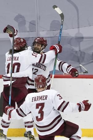 UMass stuns two-time defending champ Minnesota Duluth 3-2 in overtime in Frozen Four semifinal