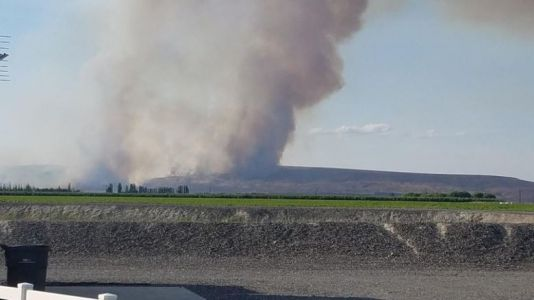 Powerline Fire in Grant County burns thousands of acres, threatens homes and farms