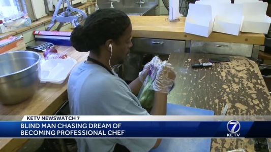 Blind man chasing dream of becoming professional chef