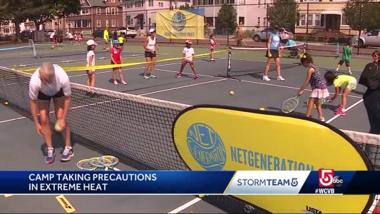 Tennis camp extra careful in extreme heat