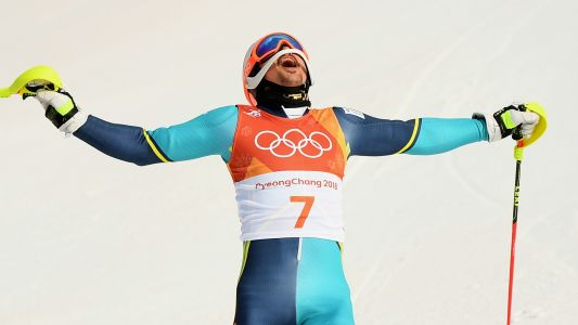 Winter Olympics 2018: Andre Myhrer claims Sweden's first men's slalom gold since 1980