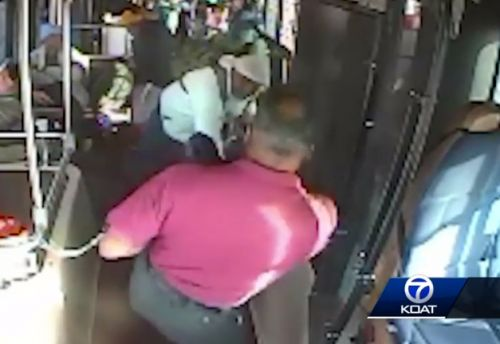 Passenger swings hatchet at bus driver while others watch in fear