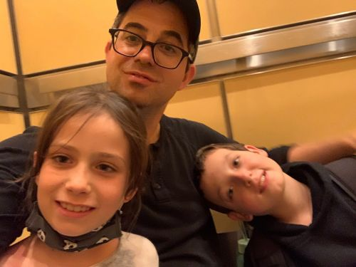 I had to teach my NYU psych class to 360 students from a cell phone while trapped in an elevator with my kids. It went surprisingly well