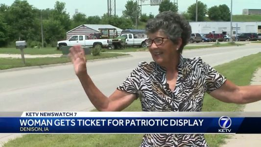 Woman gets ticket for patriotic display