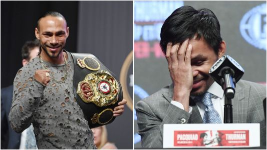 Keith Thurman says he's betting money on himself knocking out Manny Pacquiao in the first round of their welterweight fight