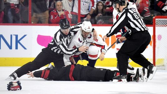NHL playoffs 2019: Alex Ovechkin knocks out Canes' Andrei Svechnikov in first period fight