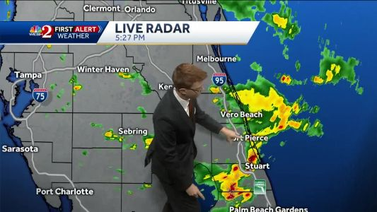 Spotty showers as Alberto continues to move