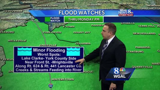 Temperatures Stay Above Average For Most of Week; Susquehanna River Levels Remain High