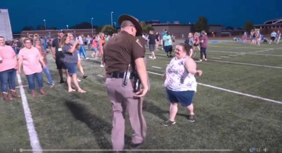 VIDEO: OHP trooper, Special Olympics athlete square off in epic dance battle