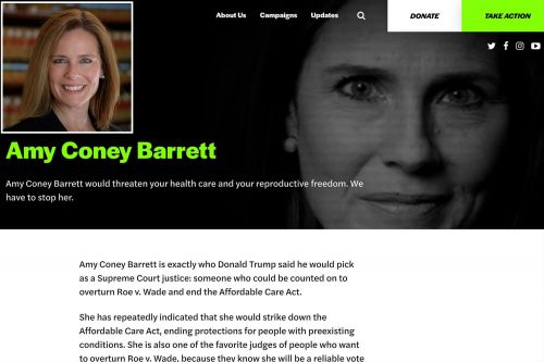 Progressive groups buy Amy Coney Barrett domain name in attempt to smear her