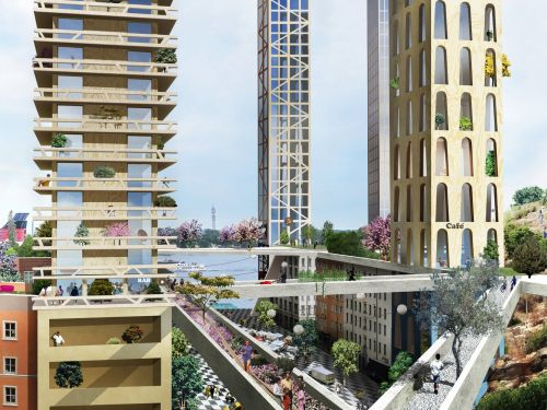 Stockholm might get an entire neighborhood of 31 wooden skyscrapers - take a look