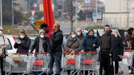 Shops stripped bare in scenes reminiscent of 'zombie apocalypse' as coronavirus fears sweep Italy