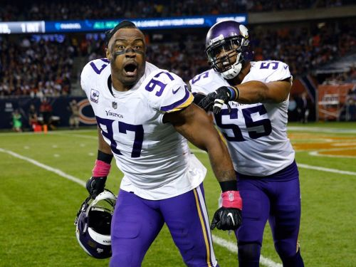 Vikings DE Griffen watches son's birth via FaceTime before win