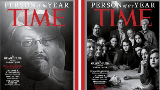 'Time' Person Of The Year For 2018: Journalists Under Attack In 'War On Truth'