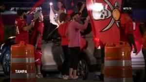 Fans celebrate as Tampa Bay, KC go to Super Bowl