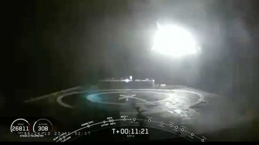 SpaceX rocket's core booster reportedly crashes during mission involving 24 satellites