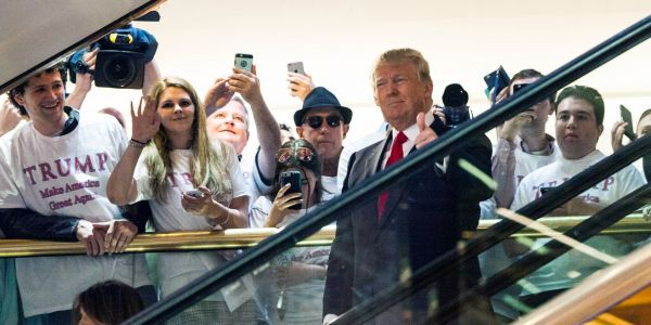 Trump celebrated the 4th anniversary of his famous Trump Tower escalator ride with a video hitting back at his haters