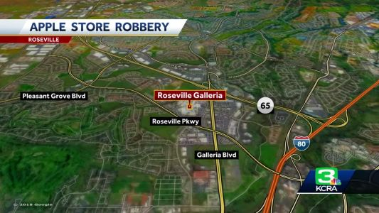Masked men swipe iPhones, computers from Roseville Apple Store