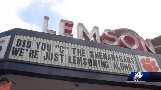 Missing 'C' returned to famous marquee in downtown Clemson
