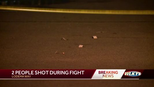 2 people shot during fight