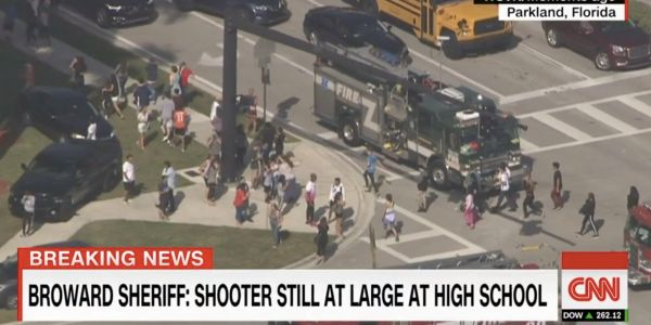 Up to 20 injured in Florida high school shooting, gunman still at large