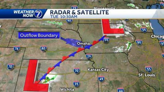 Isolated strong storms possible Tuesday afternoon, early evening