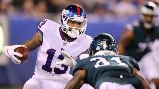 WATCH: Odell Beckham Jr. leaves field before half with Giants' offense on the field