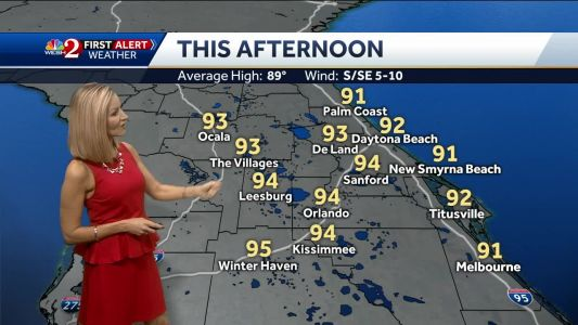 Warm with afternoon showers and storms Tuesday