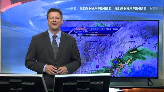 Watch: Heavy rain moves out