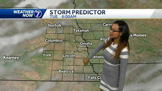 Cloudy, warmer Monday ahead of an evening cold front