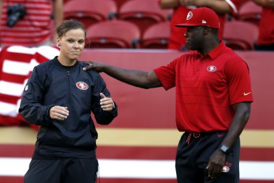 49ers assistant coach Katie Sowers becomes first openly LGBT coach