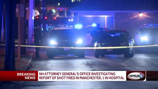 1 hospitalized after report of shot fired in Manchester; AG's Office investigating