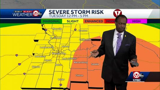 More rain, chance for severe weather Tuesday