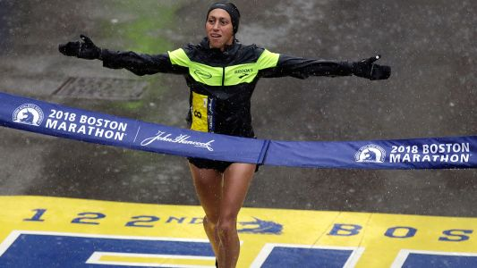 For first time in 30 years, American woman wins Boston Marathon