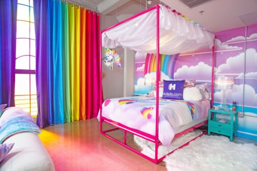 Lisa Frank fans can live out rainbow dreams in new downtown Los Angeles hotel room