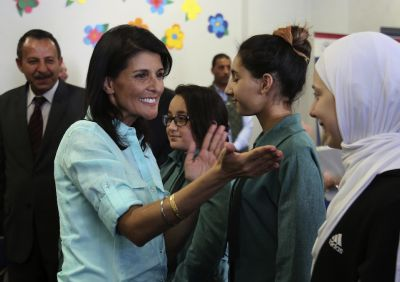 At Odds With Trump, Nikki Haley Charts Her Own Foreign-Policy Path