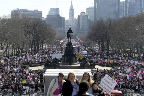 Celebrities join march for women's rights, encourage voting