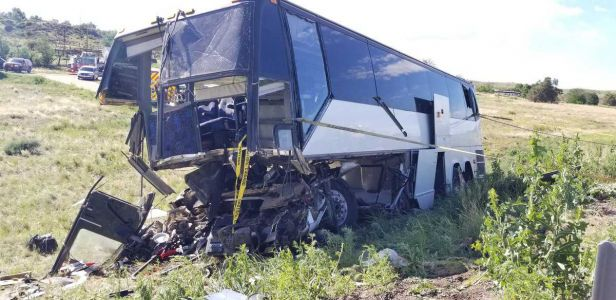 2 dead after church charter bus coming from Colorado conference crashes