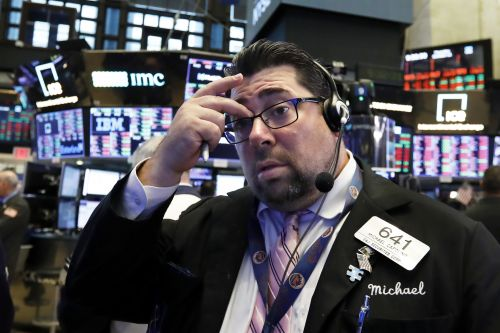 Dow drops 545 points as selling is widespread; two-day loss of 5.3 percent is largest since February