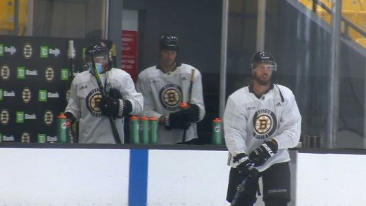 Bruins back on ice in Boston for training camp ahead of restart