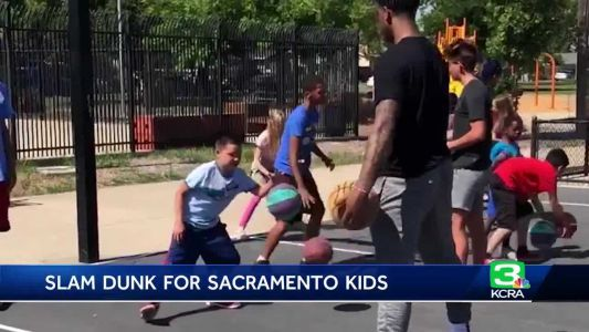 Homegrown NBA player gives Sacramento kids special day on the court