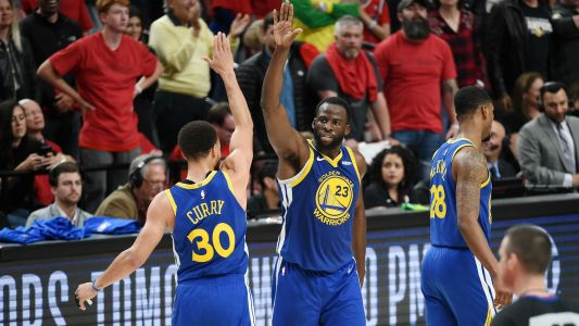 NBA playoffs 2019: Draymond Green charms 'good luck' reporter