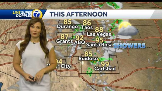 Clouds build this afternoon with a chance of isolated storms around the Metro area