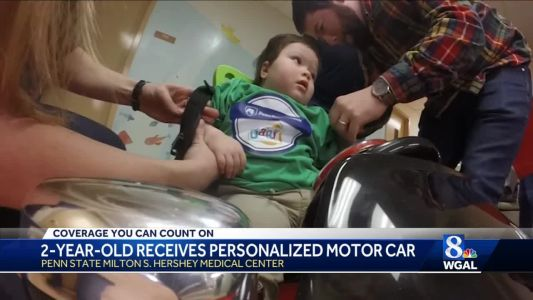 2-year-old with special needs receives personalized motor car