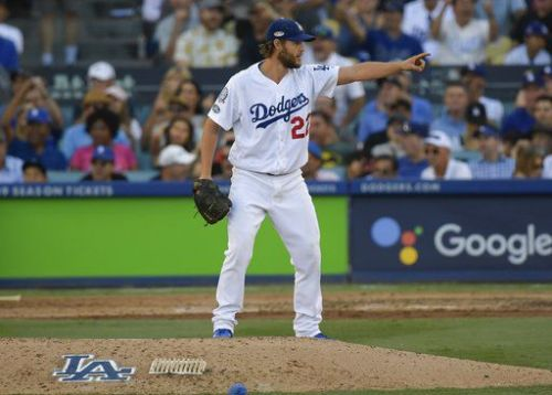 Dodgers pitcher Clayton Kershaw delivers a solid performance in 5-2 victory over Brewers in Game 5 of NLCS