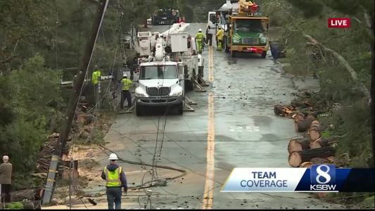 Cleanup underway in Carmel following Wednesday's storm