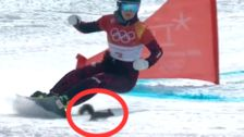 This Squirrel Just Cheated Death On The Olympic Snowboarding Course