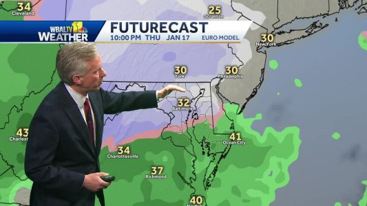 Chilly Wednesday, then snow comes later