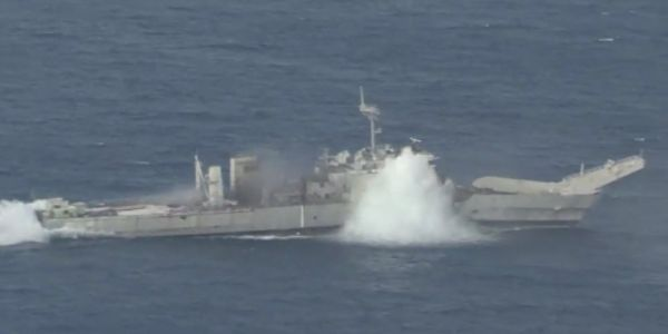 The US and its allies sank a warship for practice in the Pacific, and it's a preview of how a fight with China could go down